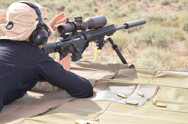 long range rifle shooter