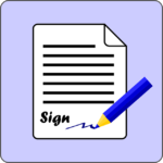 sign waiver form